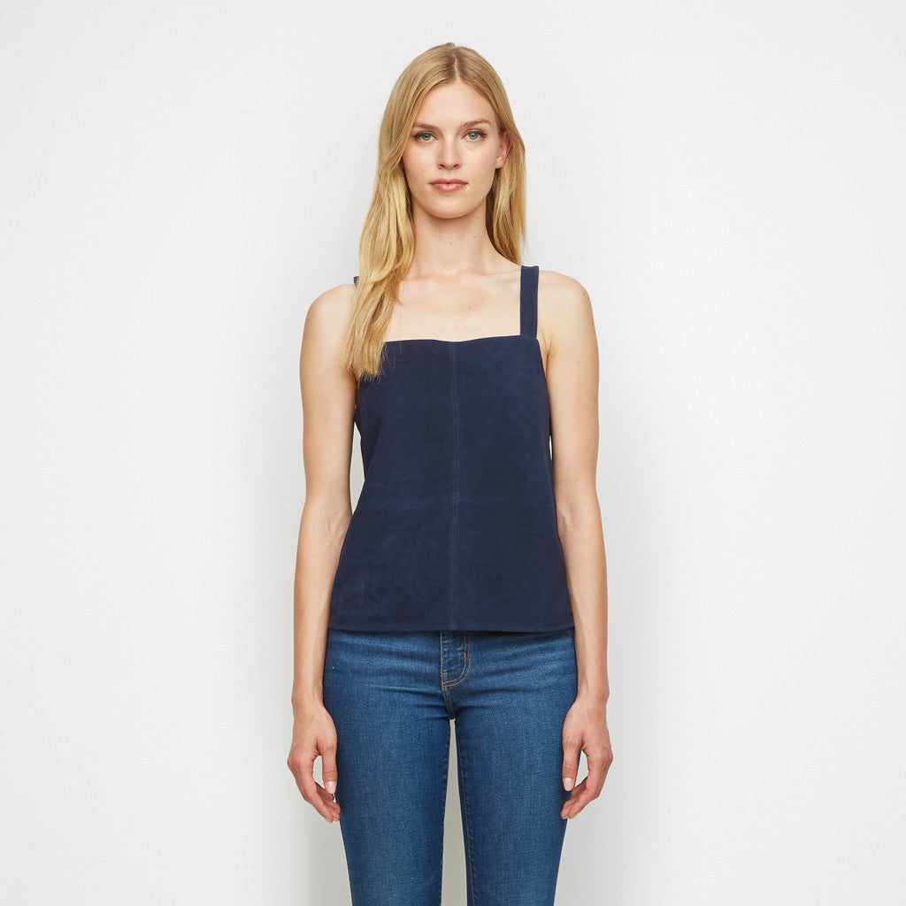 Suede Tank - Navy - Final Sale