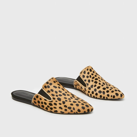 Pony Hair Mule - Leopard