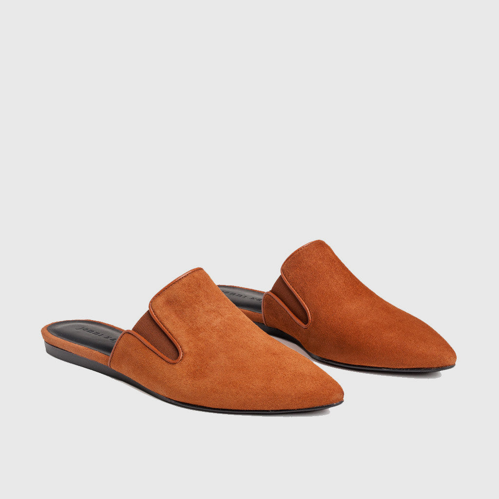 Suede Mule - Saddle