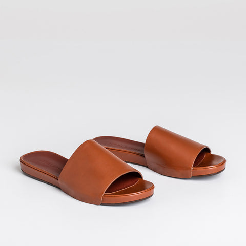 Slide Sandal - Saddle Leather