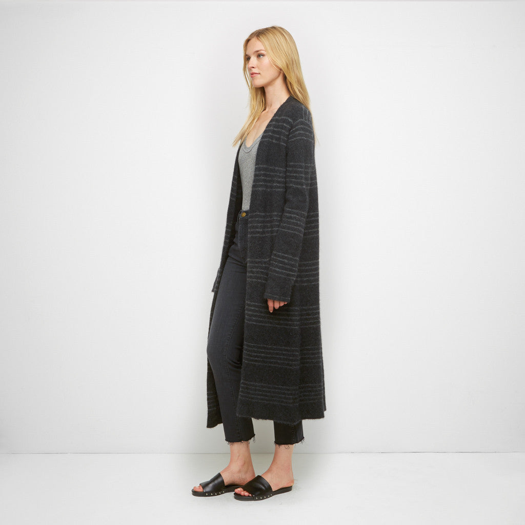 Jenni Kayne | Yak Long Sweater Coat Charcoal/Grey
