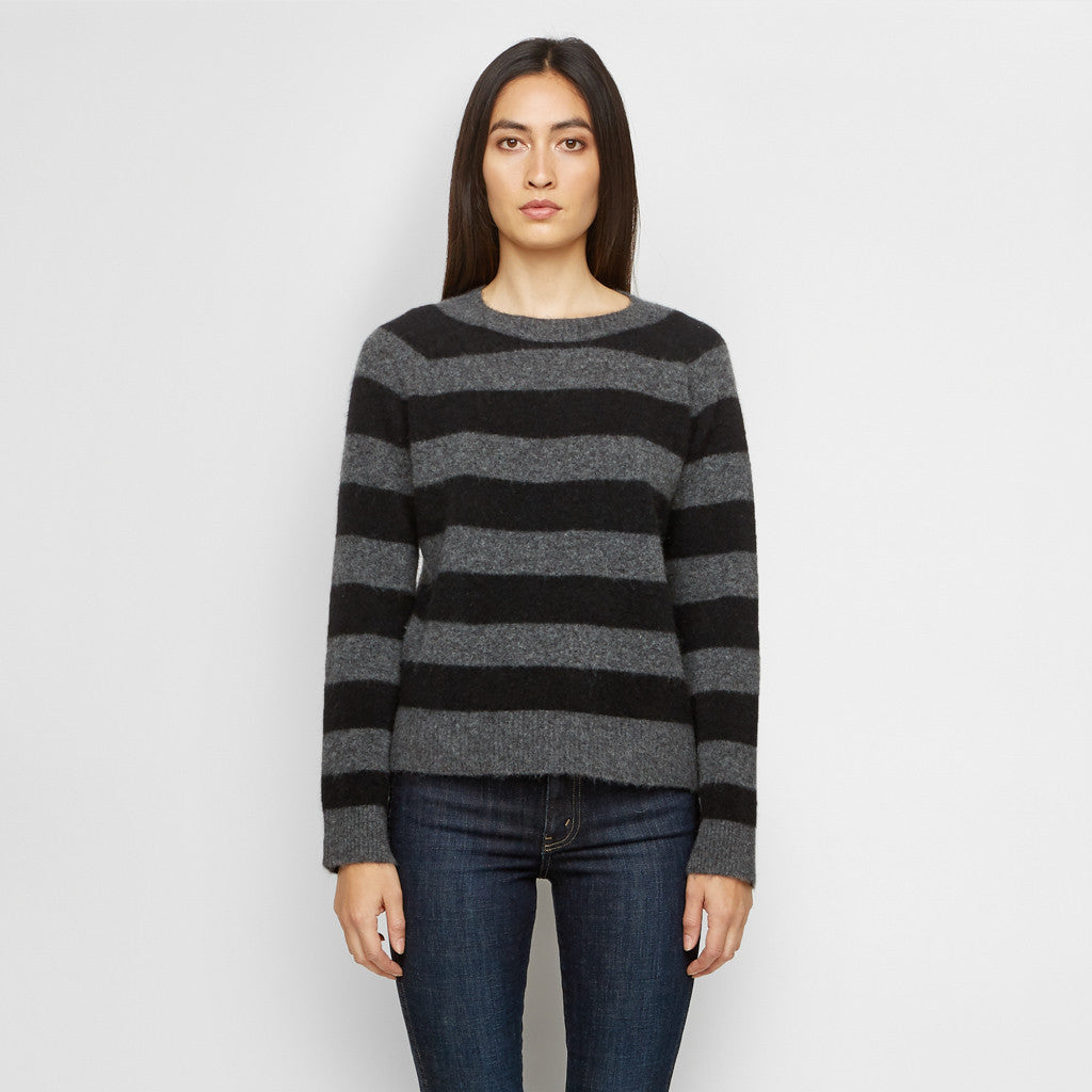 Yak Striped Sweater - Charcoal/Black - Final Sale