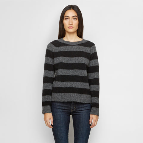 Yak Striped Sweater - Charcoal/Black