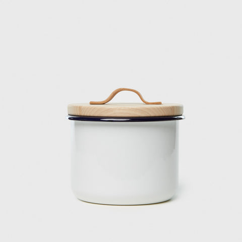 Large Container & Ash Lid - Milk White
