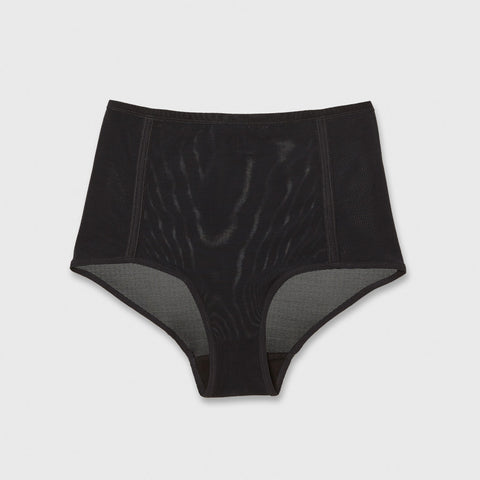 Mesh Highwaisted Brief - Black