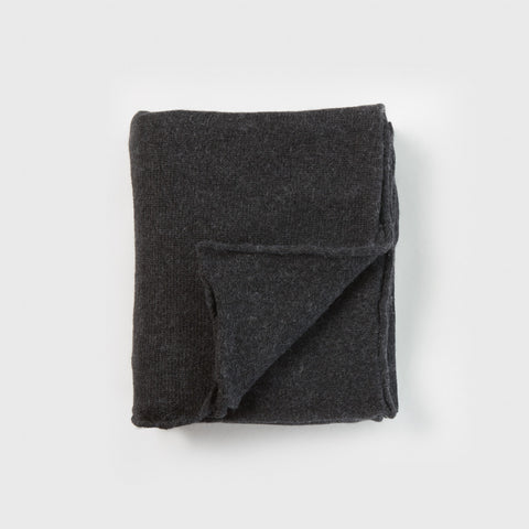 Baby Alpaca Double Wide Blanket - Dark Charcoal