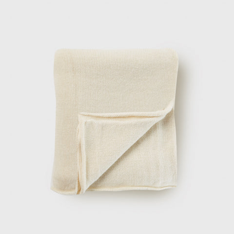 Baby Alpaca Double Wide Blanket - White