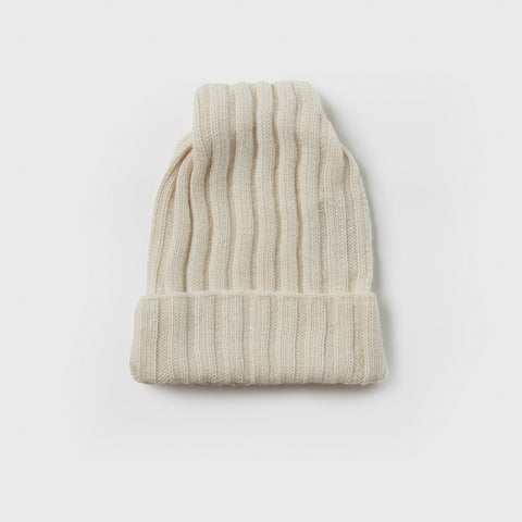 Baby Alpaca Square Hat - White