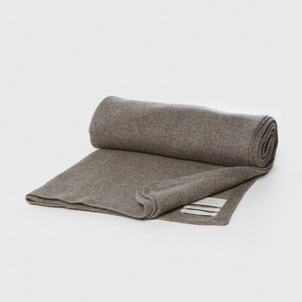 Cashmere Wide Scarf - Ash