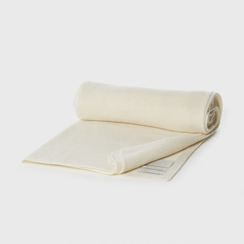 Cashmere Wide Scarf - Raw White
