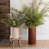 Medium Leather Rivet Vase - Natural