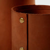 Large Leather Rivet Vase - Saddle