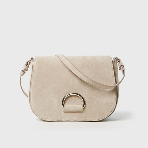 D Saddle Bag - Chalk Suede Leather