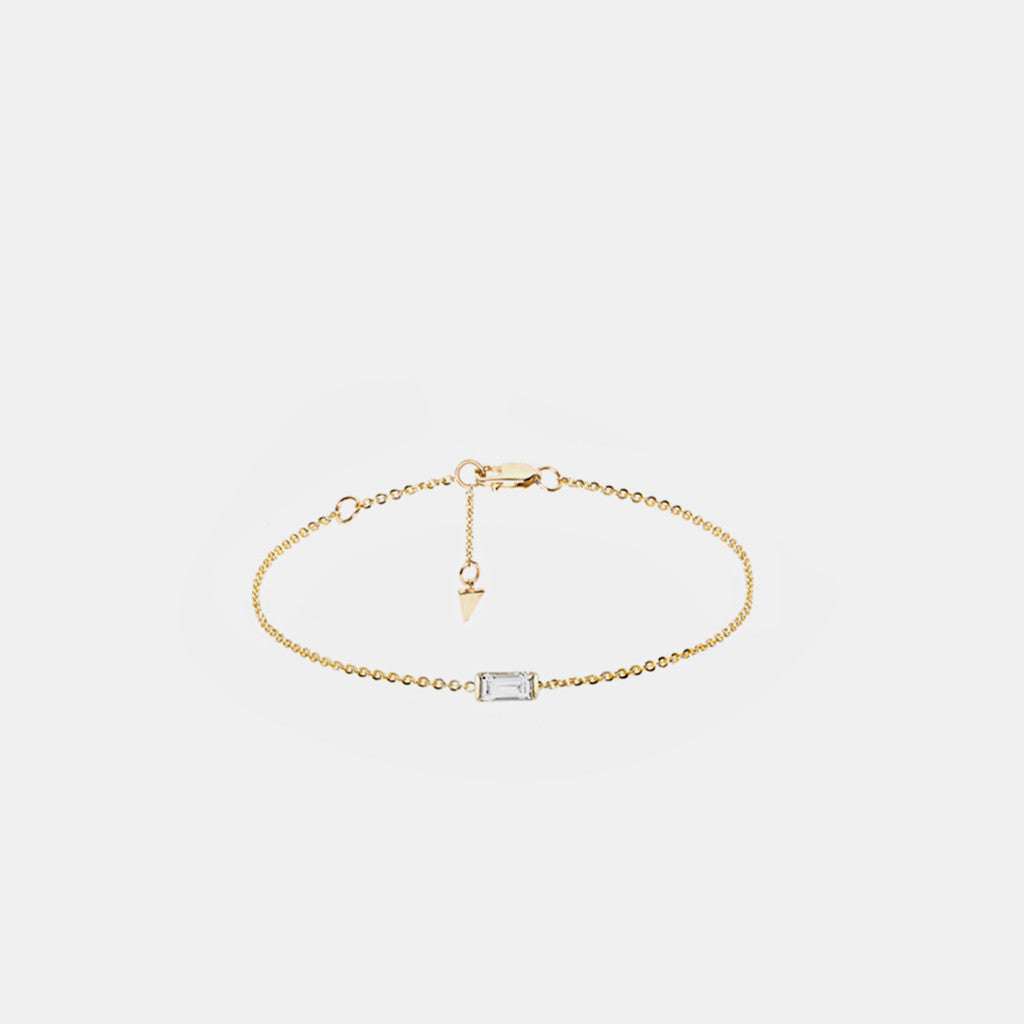 Diamond Baguette Chain Bracelet