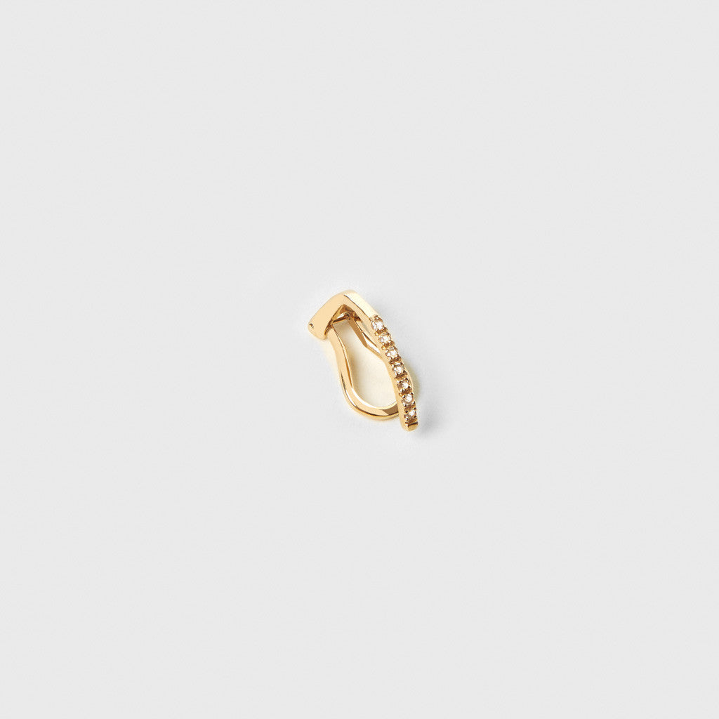 Diamond Pave Earclip - Yellow Gold