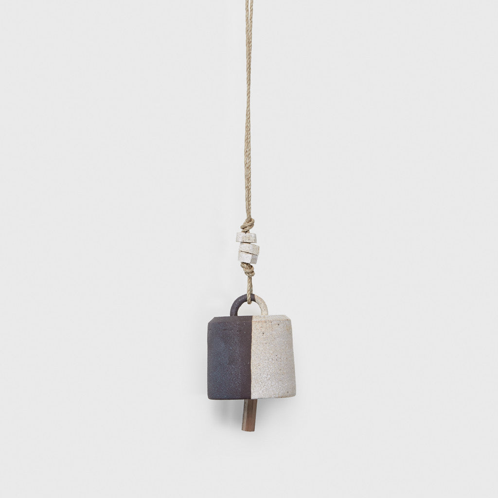 Wide Thrown Bell with Beads - Black/White