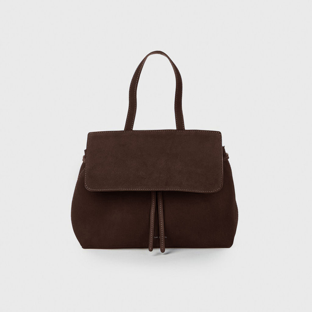 Suede Mini Lady Bag - Chocolate