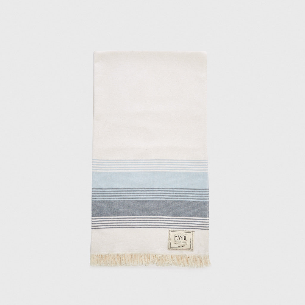 Jervis Towel - White/Navy