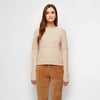 Merino Mix Stitch Sweater - Sand