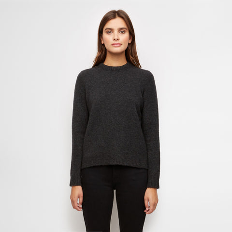 Puffy Crewneck Sweater - Charcoal