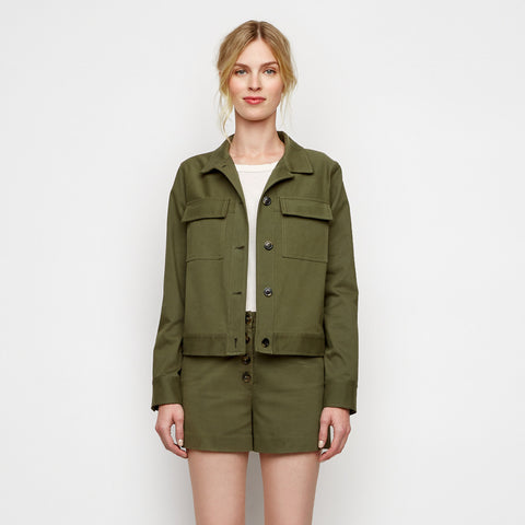 Cropped Military Jacket - Military