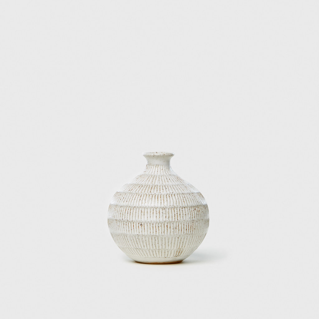 Carved Bottleneck Vase