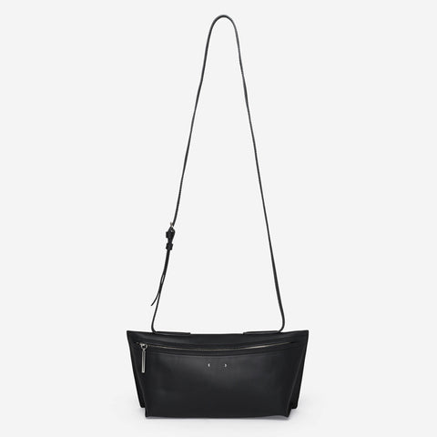AB 39 Short Zip Shoulder Bag - Black