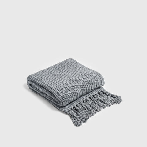 Alpaca Throw Blanket - Classic Grey