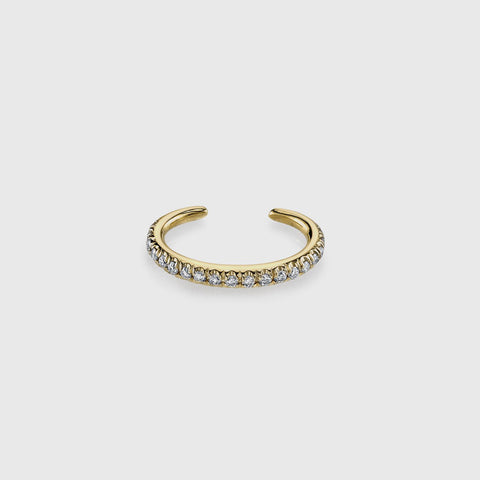 Pave Reloaded Ear Cuff - 14K Yellow Gold