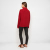 Cashmere Ribbed Turtleneck Sweater - Red