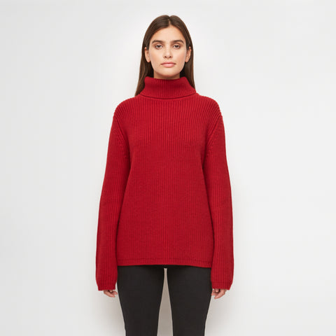 Cashmere Turtleneck - Red