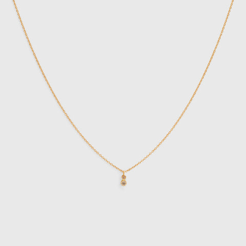 Double Brown Diamond Necklace - 18K Yellow Gold