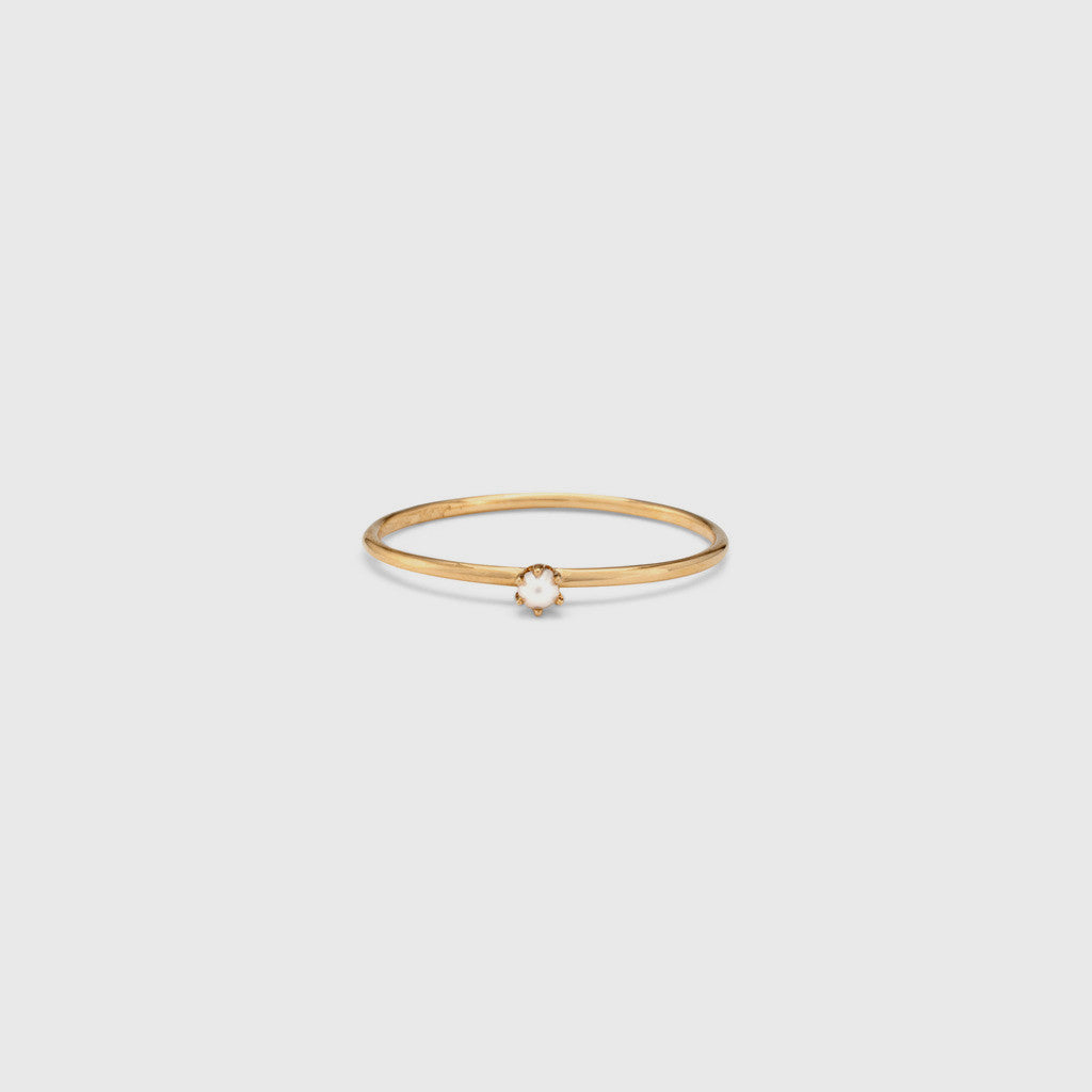 Baby Pearl Ring - 18K Gold