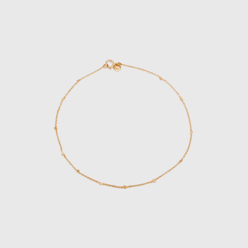 Little Gold Fleck Anklet - 18K Yellow Gold