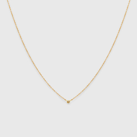 Polaris Brown Diamond Necklace - 18k Yellow Gold