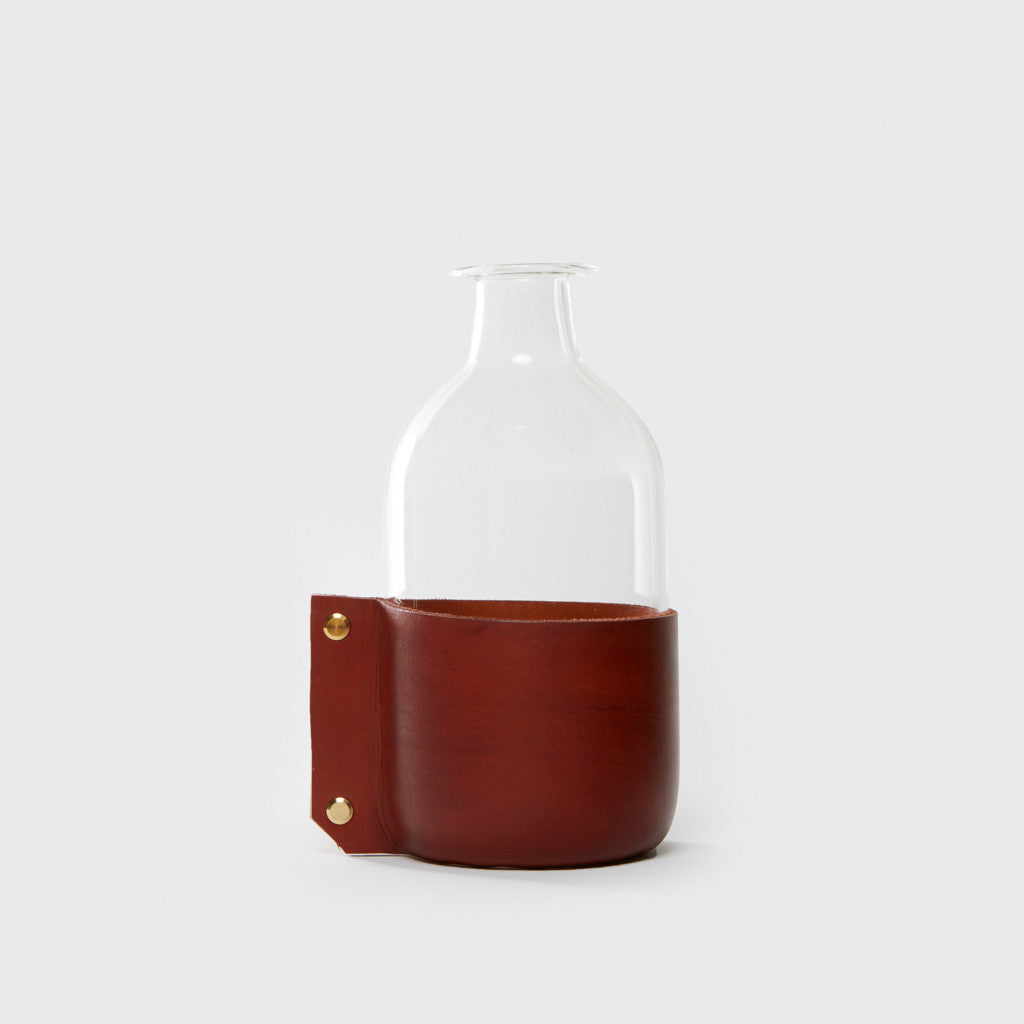 Leather Wrapped Bottle - Honey