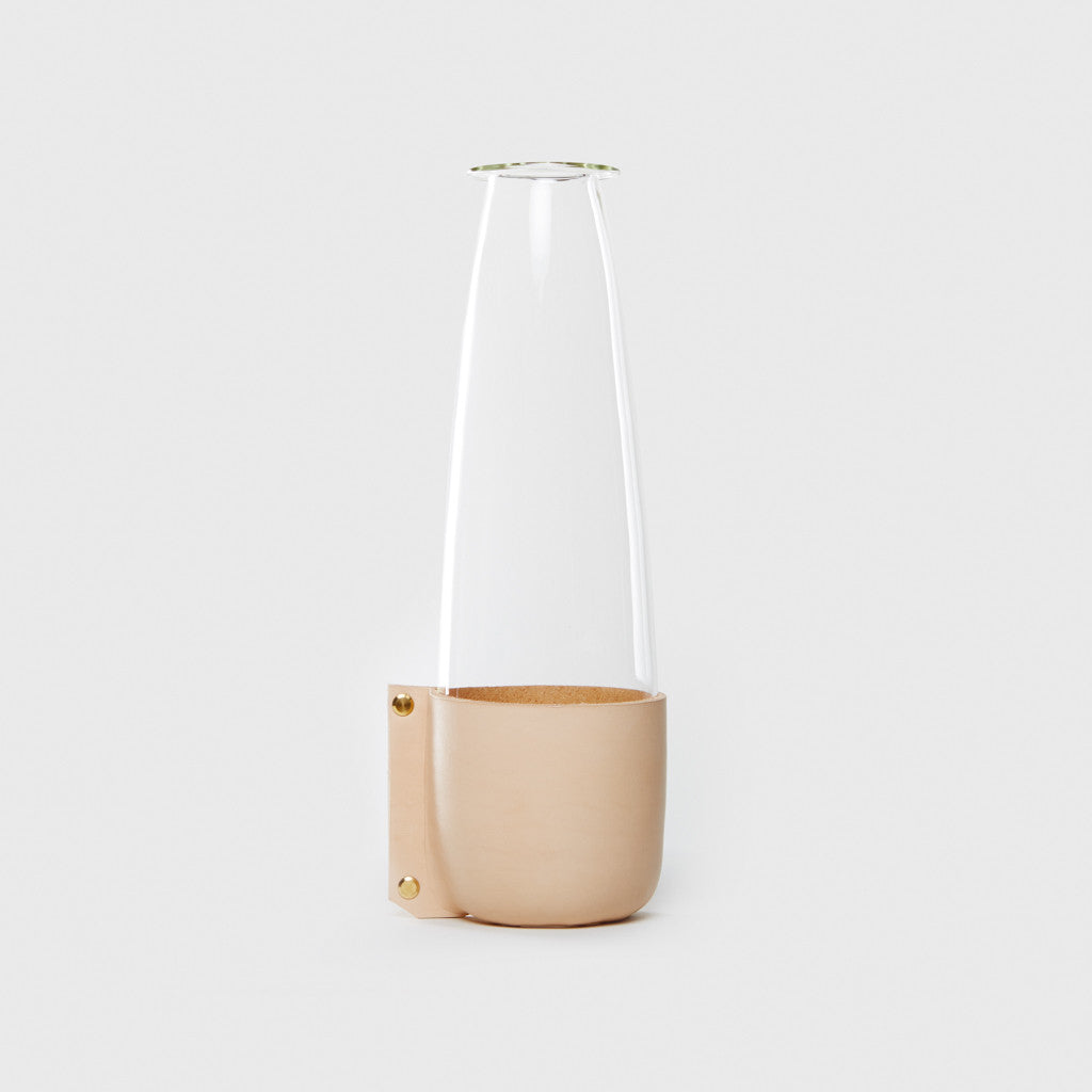 Leather Wrapped Carafe - Nude