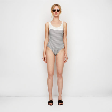The Anne-Marie One-Piece - Navy Breton