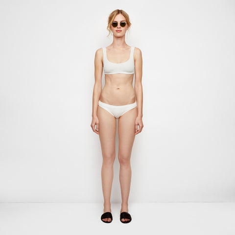 The Elle Bikini Bottom - Ivory Rib