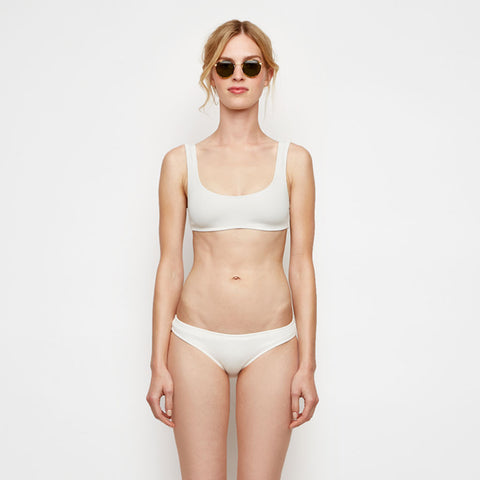 The Elle Bikini Top - Ivory Rib