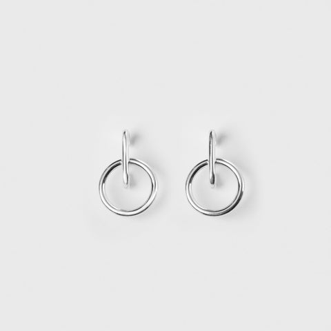 Tiny Isabel Hoop Earrings - Sterling Silver