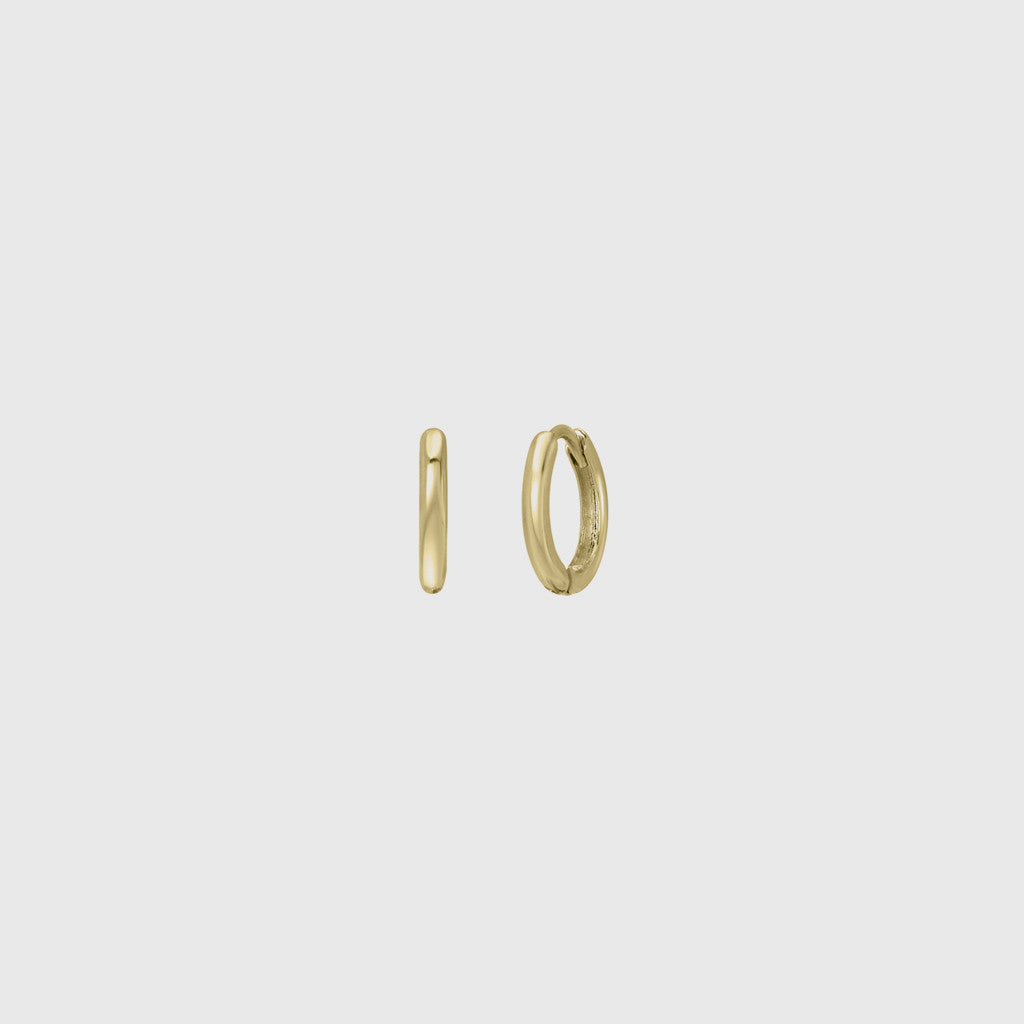 Huggies Single Hoop Earring - 14K Yellow Gold