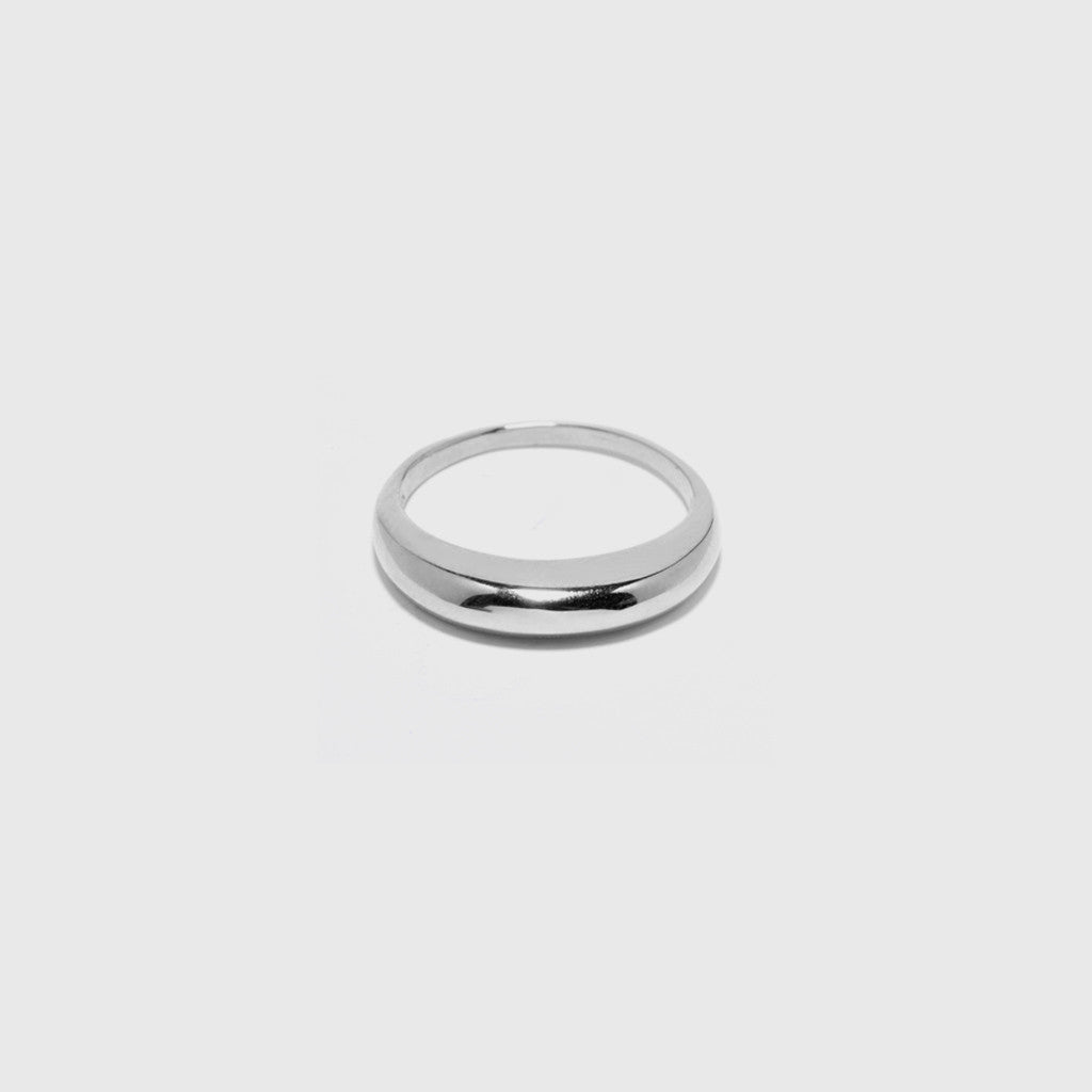 Thin Dome Ring - Sterling Silver