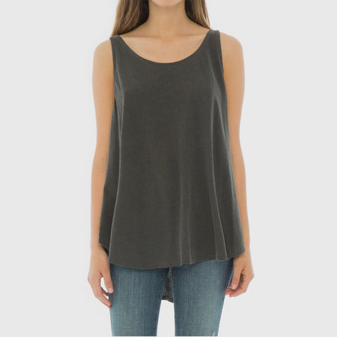 The Scoop Tank - Washed Black