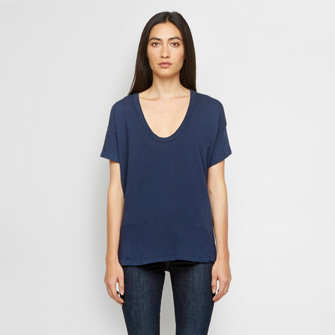 The U-Neck Tee - Navy