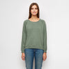The Cropped Sweatshirt - Hedge Green