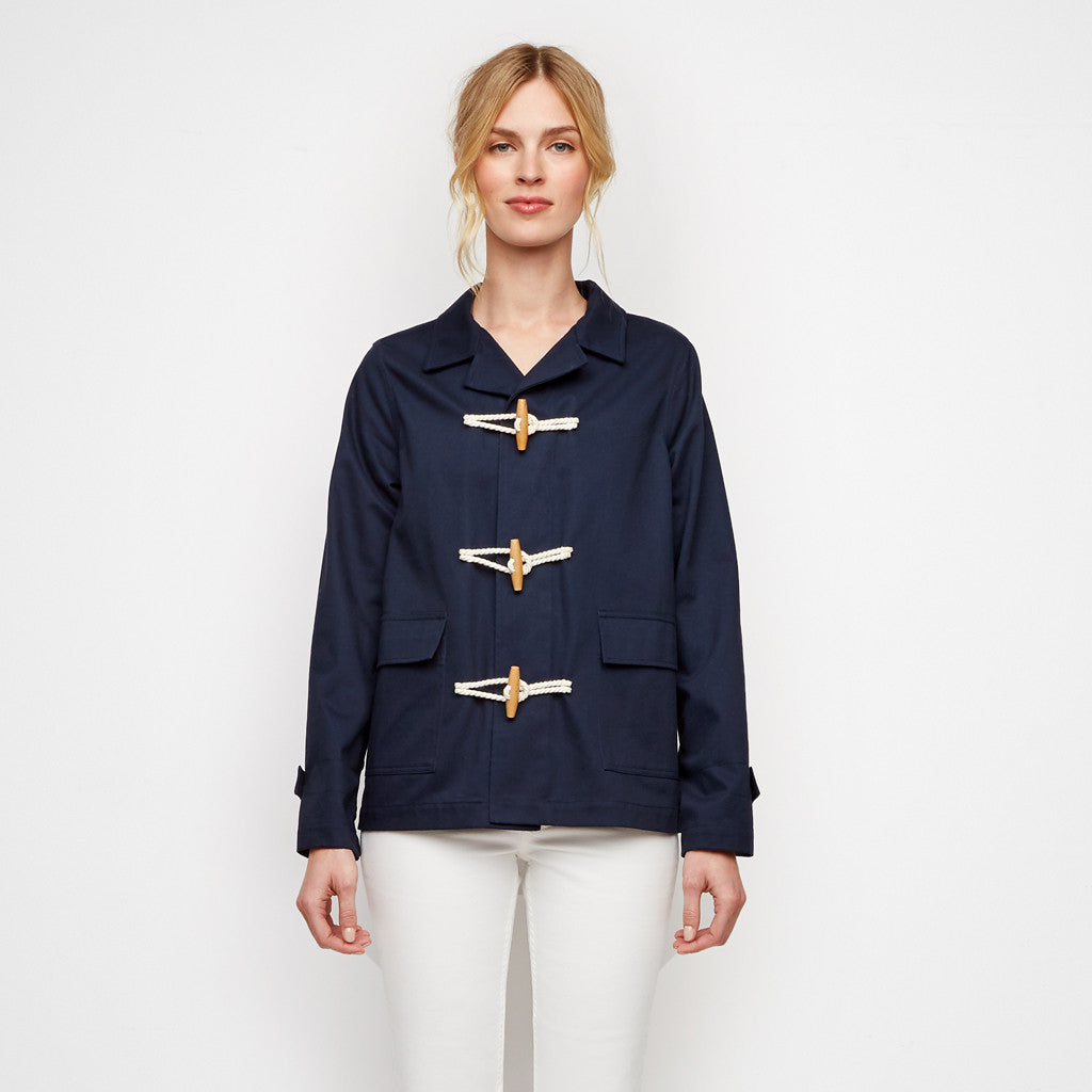 Canvas Toggle Jacket - Navy