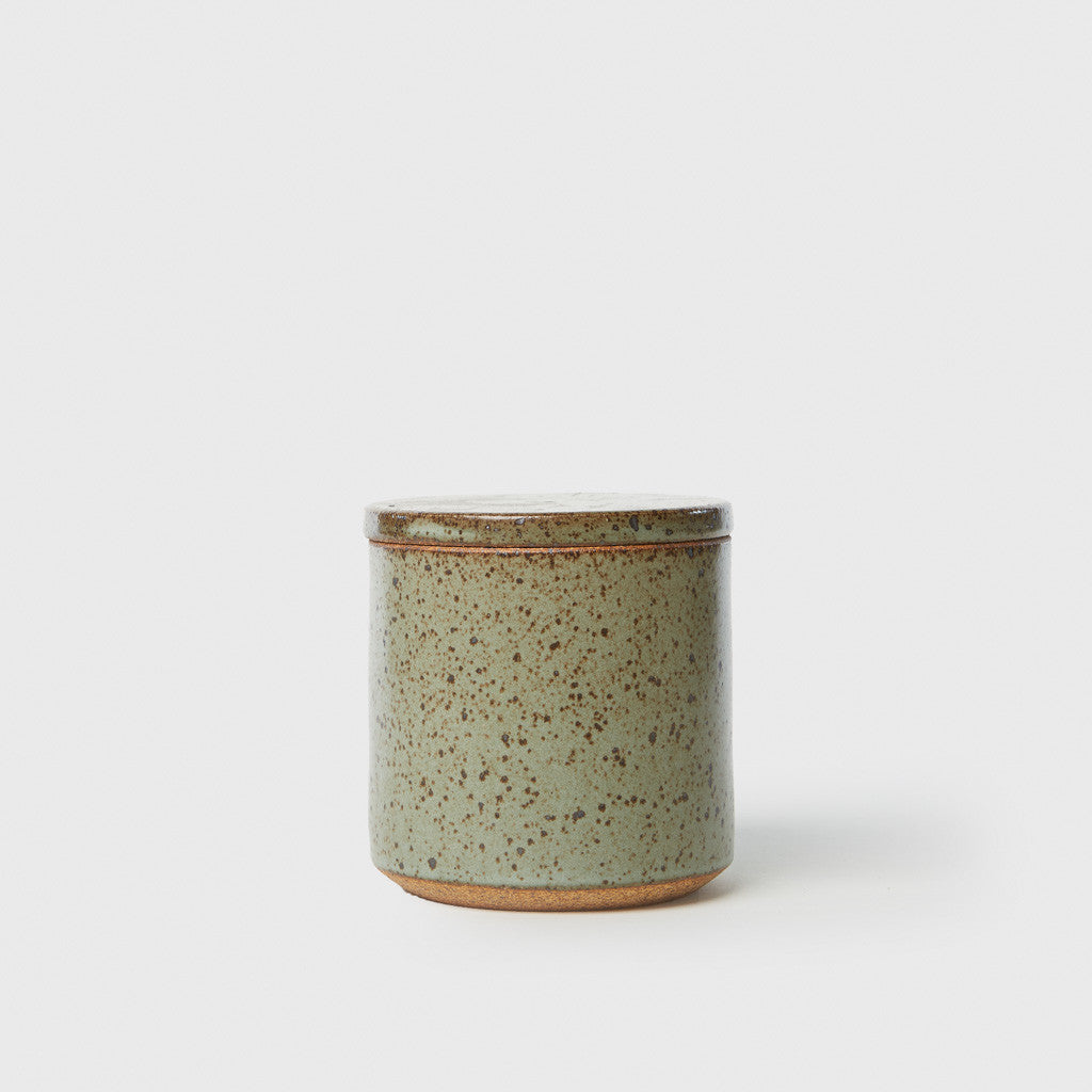 Canister with Lid - Speckled Robin's Egg