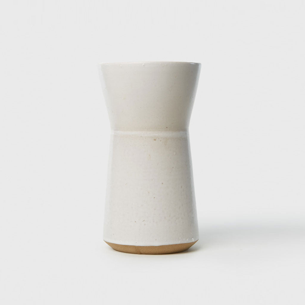 Large Hourglass Vase - Matte White