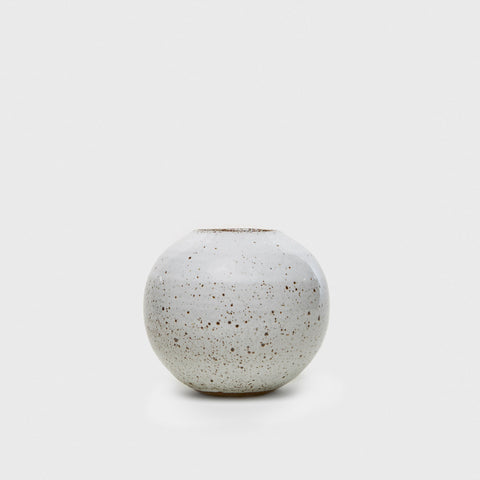 Orb Vase - White Speckle